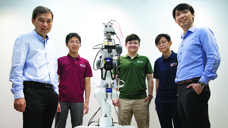 The NUS research team behind the novel research, led by Assistant Professor Harold Soh (left) and Assistant Professor Benjamin Tee (right). (Photo: NUS)