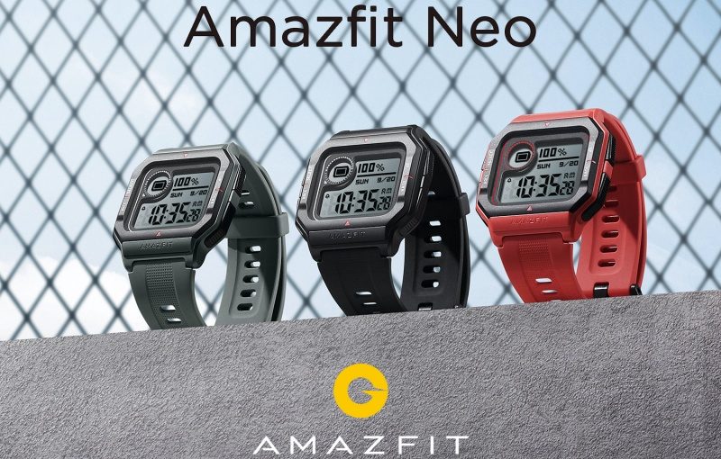 The design brings to mind digital watches. Image courtesy of Amazfit.