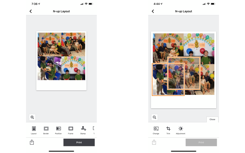 You can also move the pictures you've chosen for the collage around