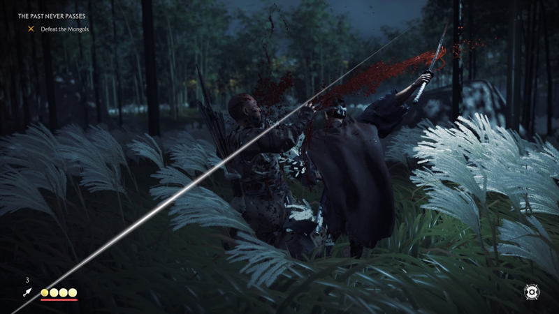 Combat in Ghost of Tsushima is a mix of Sekiro: Shadows Die Twice and Marvel's Spider-Man. Not only does Jin have his sword to take into battle, but a variety of gadgets to keep overwhelming forces at bay.