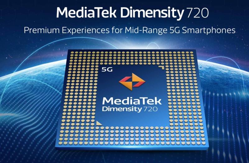 The MediaTek Dimensity 720. <br>Image source: MediaTek