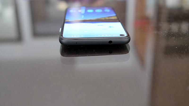 The 3.5mm headphone jack sits at the top of the phone.