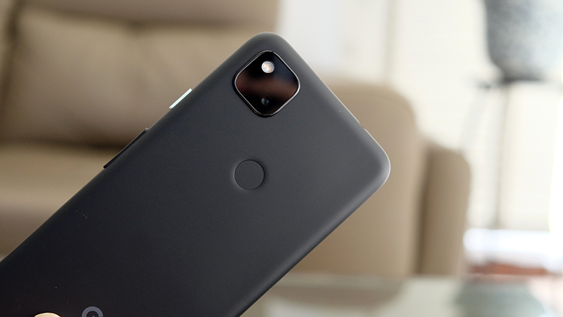 Google has kept the square camera bump on the rear.