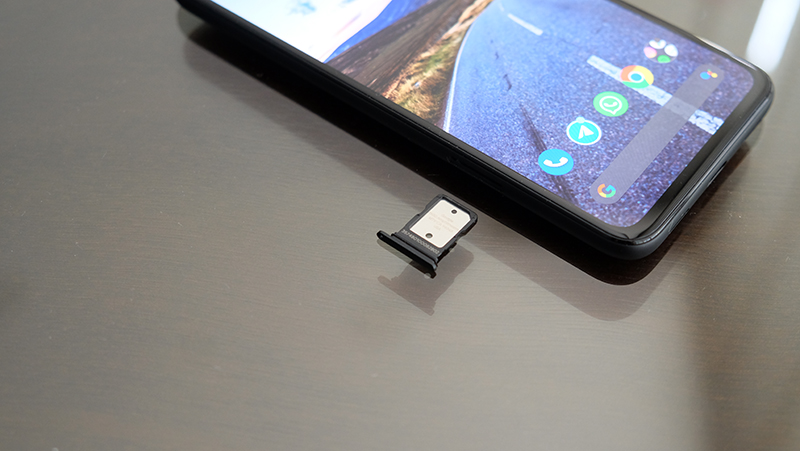The nano SIM slot sits on the left edge.
