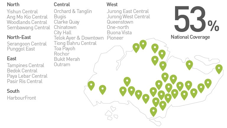 Note: StarHub says 5G network coverage in the above locations may vary and covers mainly outdoor areas only.