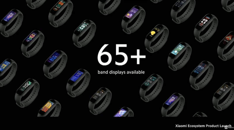 You have multiple themes to choose from for your Smart Band 5