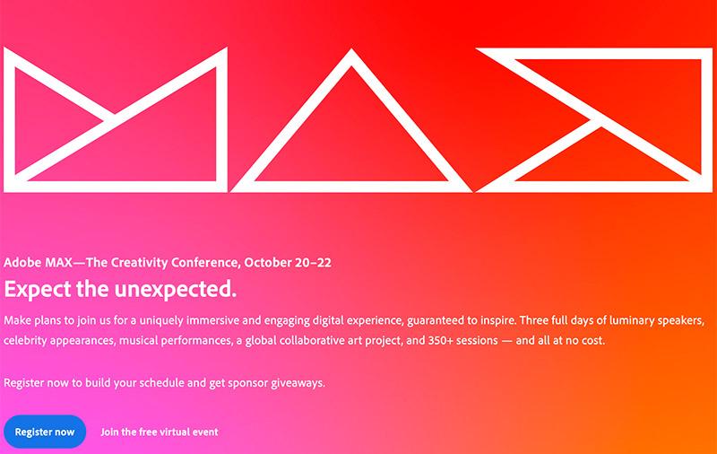 (Image: Adobe MAX website.)