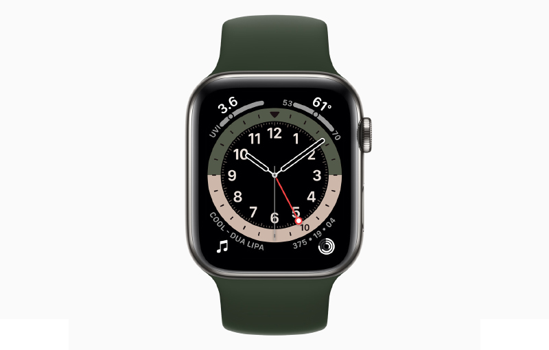 The new GMT watch face makes it to tell time in multiple timezones in an analogue way. (Image source: Apple)