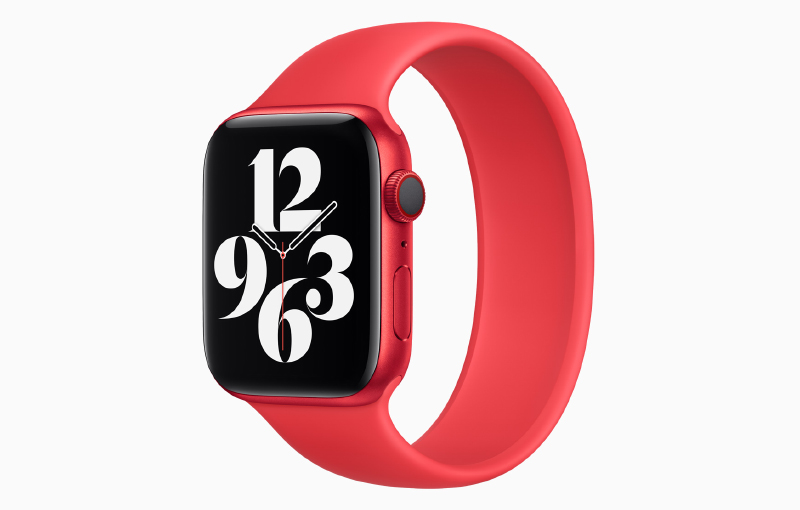 For the first time, a (PRODUCT)RED Apple Watch. (Image source: Apple)
