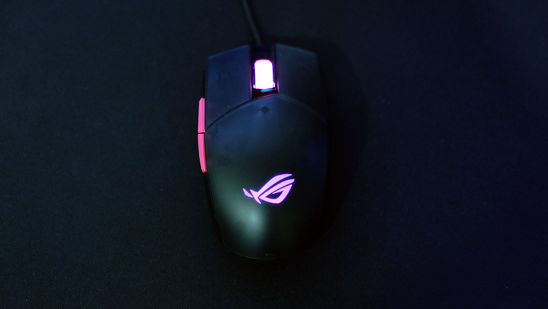 The translucent shell on the ASUS ROG Strix Impact II Electro Punk isn't the best looker.
