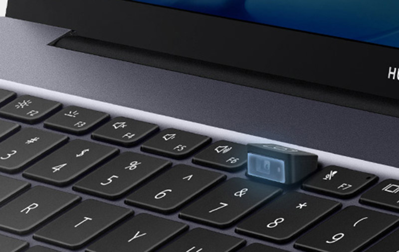 The laptops' webcam is hidden under a dedicated key between F6 and F7. (Image: Huawei.)