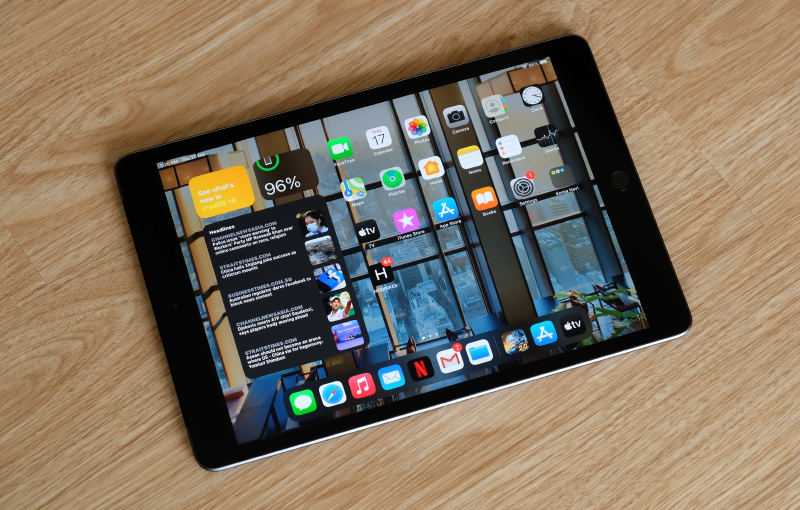This is the new 8th-generation iPad.