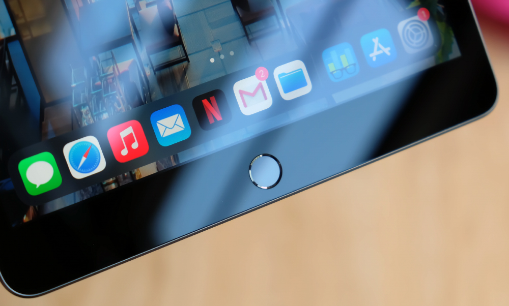 Touch ID features on this iPad so no worries if you are wearing a face mask.