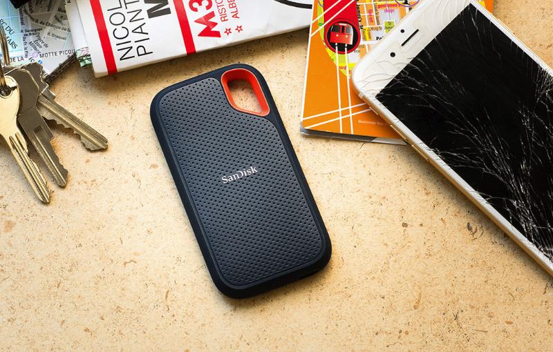 The SanDisk Extreme Portable SSD. (Image source: SanDisk)