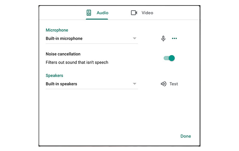 The feature first came to G Suite Enterprise and G Suite Enterprise for Education customers using Meet on the web. (Image: Google.)