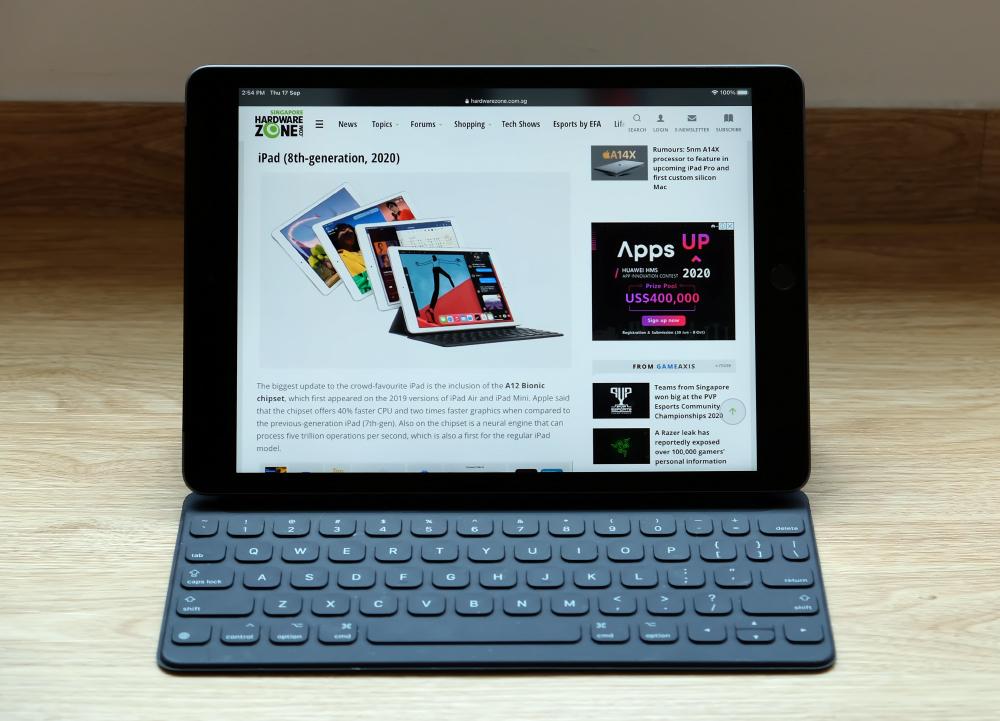 iPad (8th-gen, 2020).
