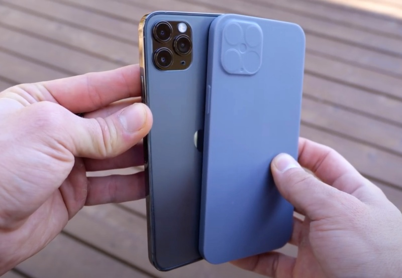 "Screenshot taken from EverythingApplePro's YouTube video on ""Exclusive iPhone 12 Pro Max Design Leaks! It's HUGE."""