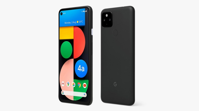 Official render of the upcoming Google Pixel 4a 5G. <br>Image source: John Lewis