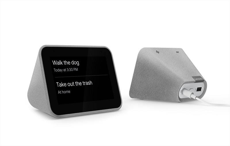 Lenovo Smart Clock front and back (Image source: Lenovo)