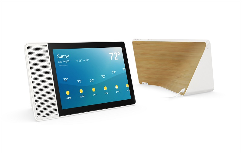 Lenovo Smart Display 10-inch front and back with bamboo finish (Image source: Lenovo)