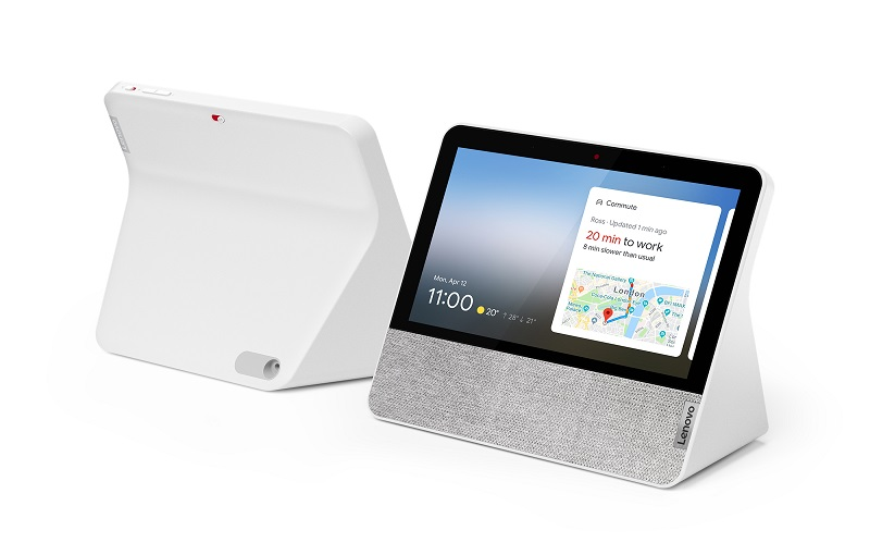 Lenovo Smart Display 7-inch front and back with white finish (Image source: Lenovo)