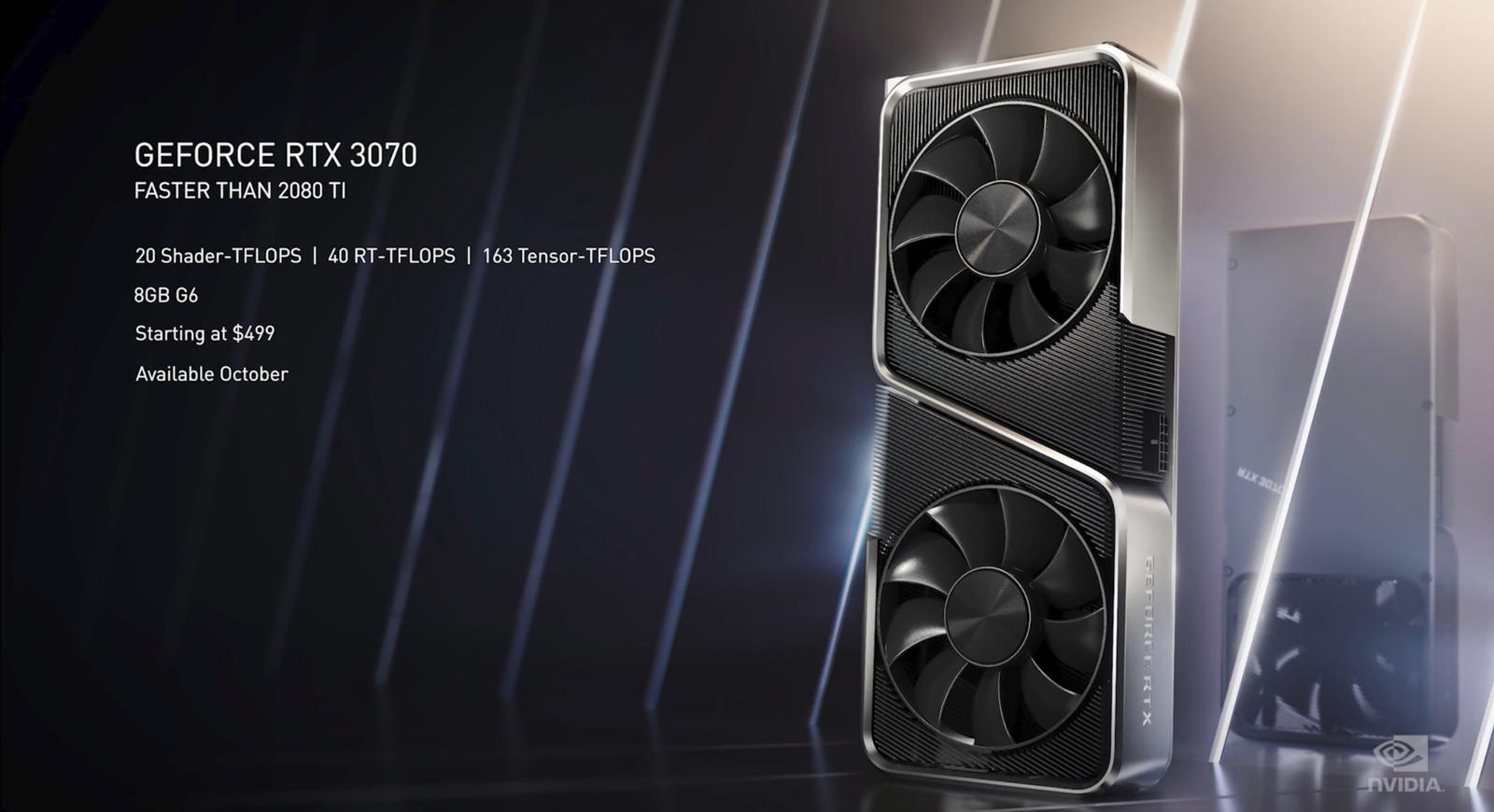 The NVIDIA GeForce RTX 3070.