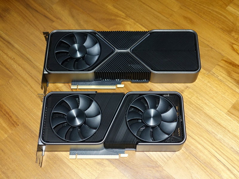 The RTX 3070 Founders Edition is a lot more petite compared to the RTX 3080 Founders Edition, but is actually still slightly longer than the previous RTX 2070 Founders Edition.