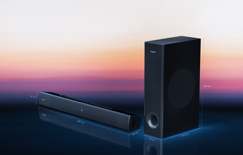 This is one of the most affordable soundbar options available, Image courtesy of Creative.