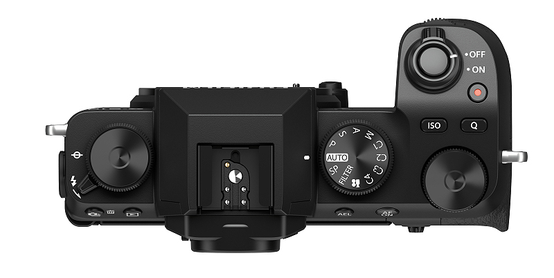 The X-S10 has a much more prominent grip. (Image surce: Fujifilm)