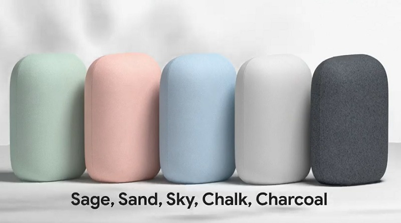 The five colour options you get.