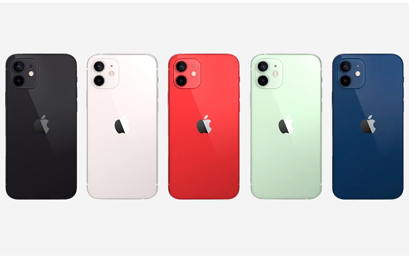 iPhone 12 comes in five colours at launch.