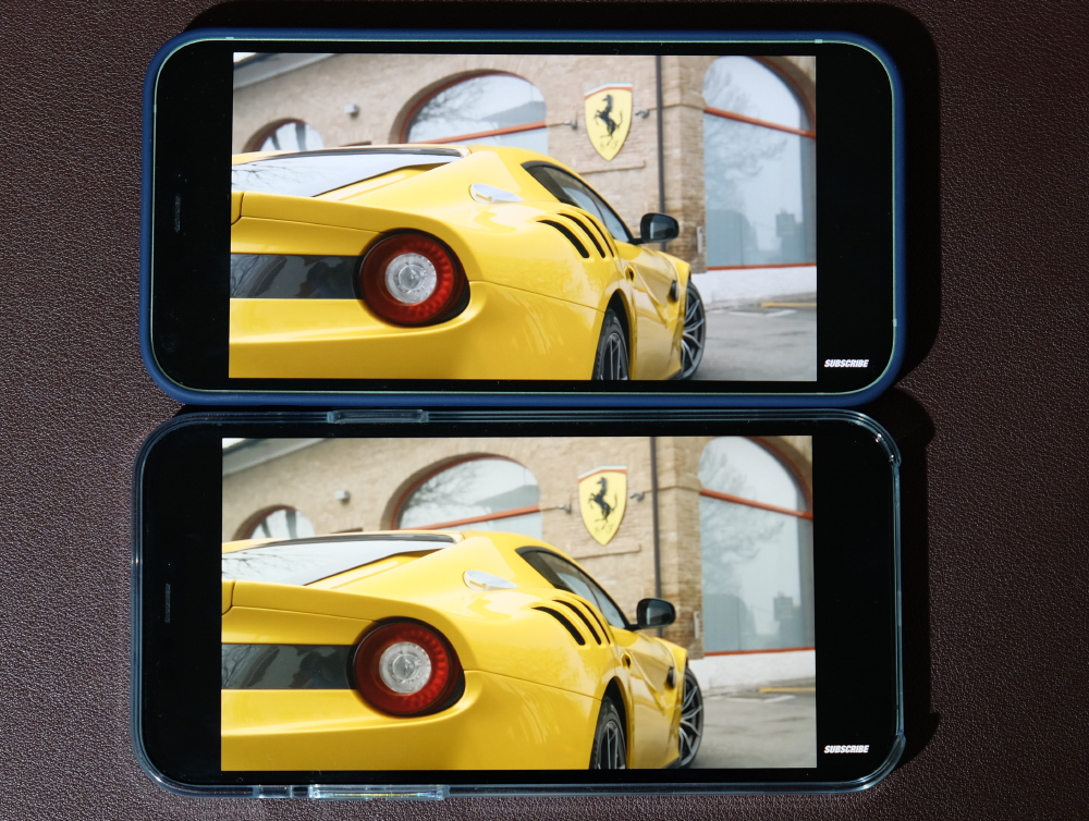 Though both phones now have OLED displays, the displays themselves are similar but not completely identical.