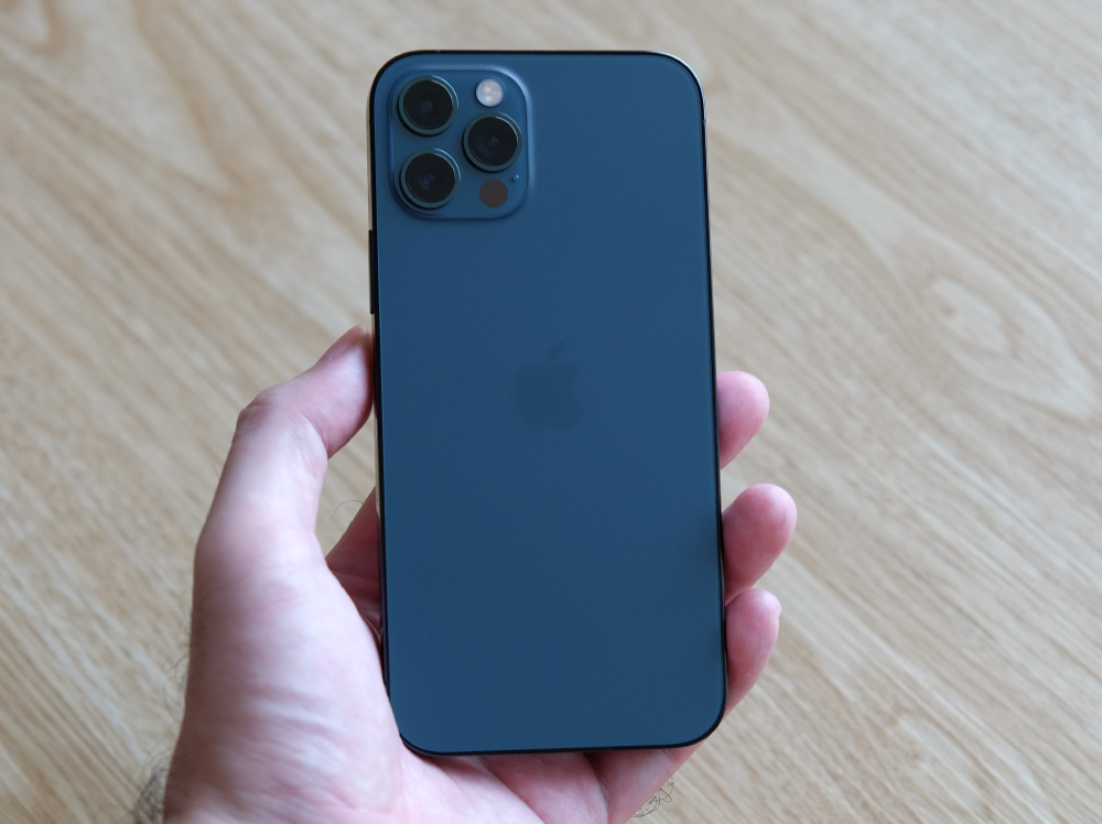 Here's the iPhone 12 Pro in pacific blue.