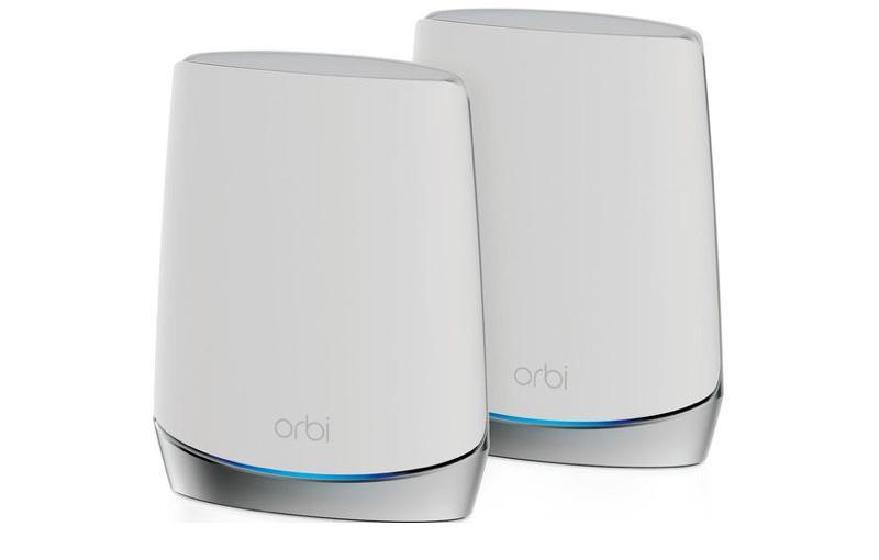 Netgear Orbi Mesh WiFi 6 System AX4200 (RBK752). (Image source: Netgear.)