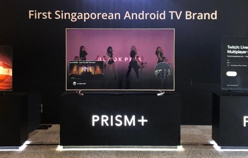 The overall aesthetic is similar to Prism+'s old E series TVs.