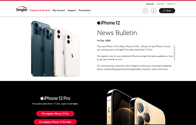 Register your interest for the new iPhones now!