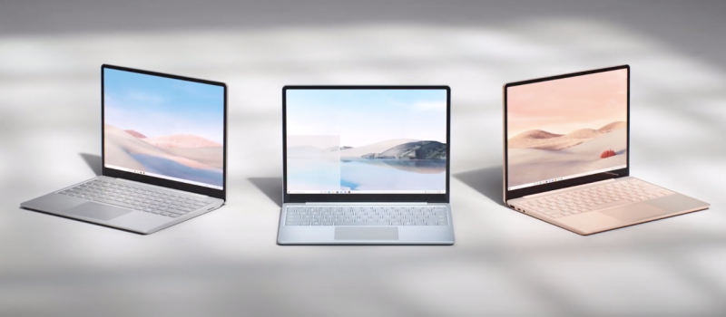 The Microsoft Surface Laptop Go.