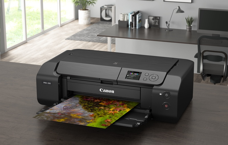 Canon's Pixma Pro-200 comes with a new eight-colour ink tank system. Image courtesy of Canon.