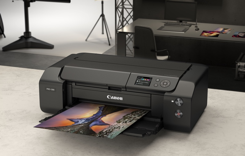 Canon's imagePROGRAF Pro-300 comes with the new Lucia Pro 10-ink system. Image courtesy of Canon.
