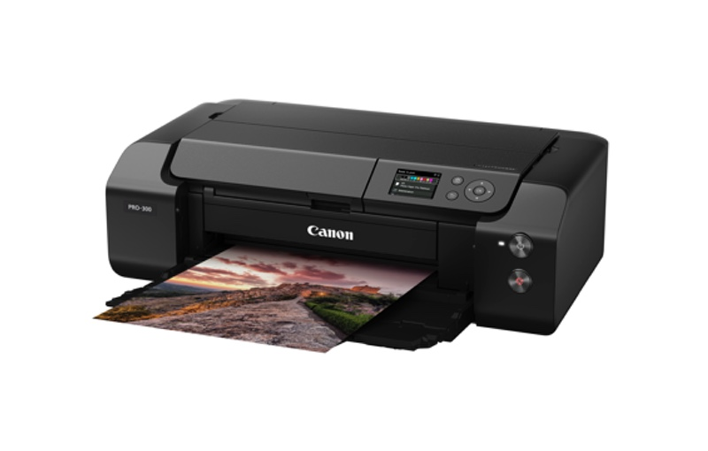 The Canon imagePROGRAF Pro-300 now has a 3-inch LCD screen. Image courtesy of Canon.