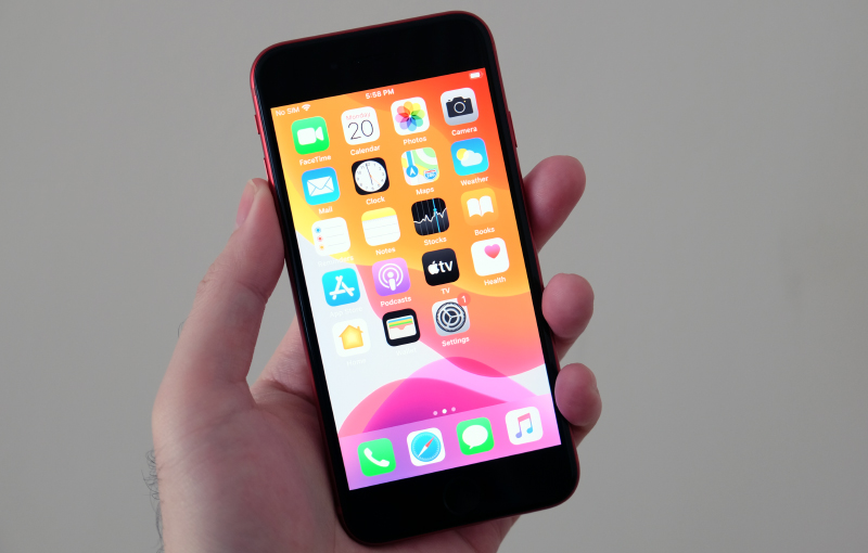 The Apple iPhone SE.