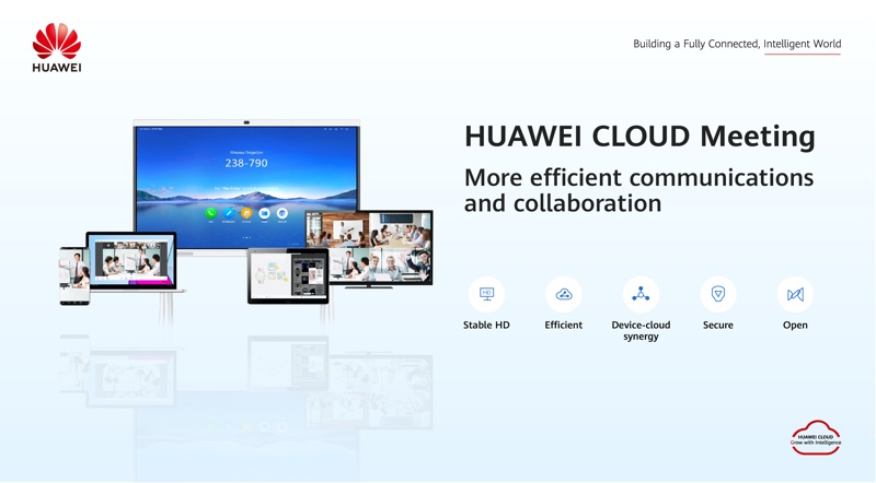 Huawei says they will continue to invest in audio and video capabilities to support the solution. Image courtesy of Huawei.