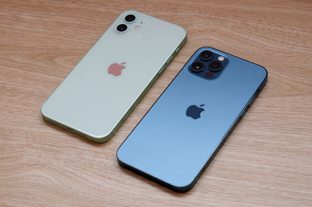 The Apple iPhone 12 and iPhone 12 Pro.