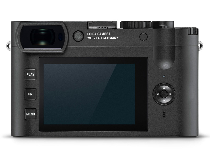 The rear of the Q2 Monochrom. (Image source: Leica)