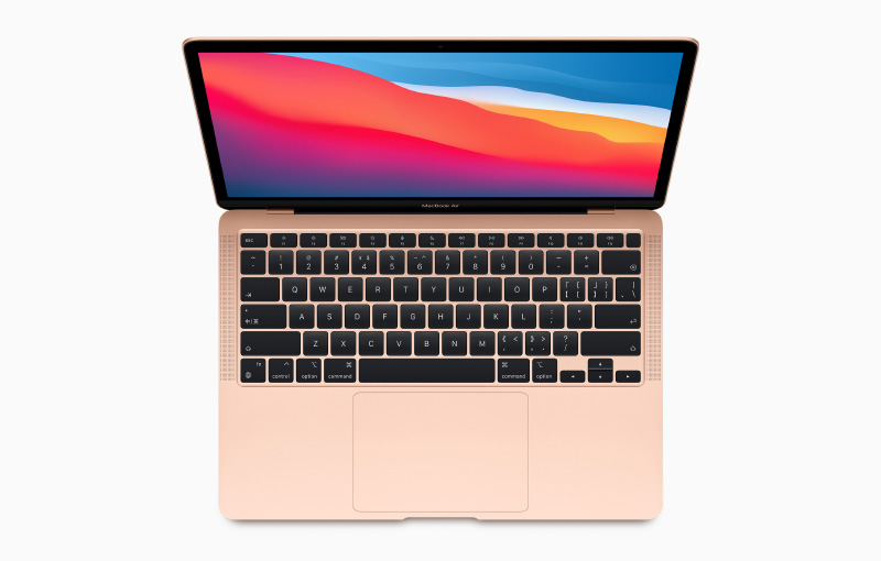 The first Mac to have the M1 chip is the MacBook Air. (Image source: Apple)