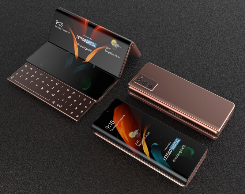 Could Samsung bring a new design with the Galaxy Fold3? <br>Image source: LetsGoDigital