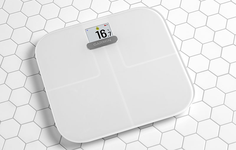 Garmin Index S2 in White.