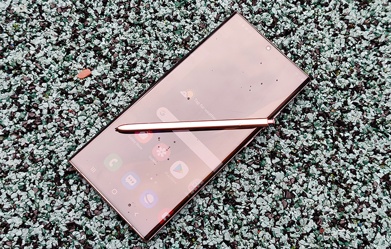 The Samsung Galaxy Note20 Ultra.