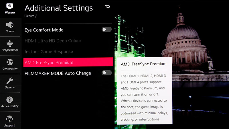 The CX has supported FreeSync since July, so it's ready for the Xbox Series X. When the PS5 gets HDMI VRR, the CX will support that, too.