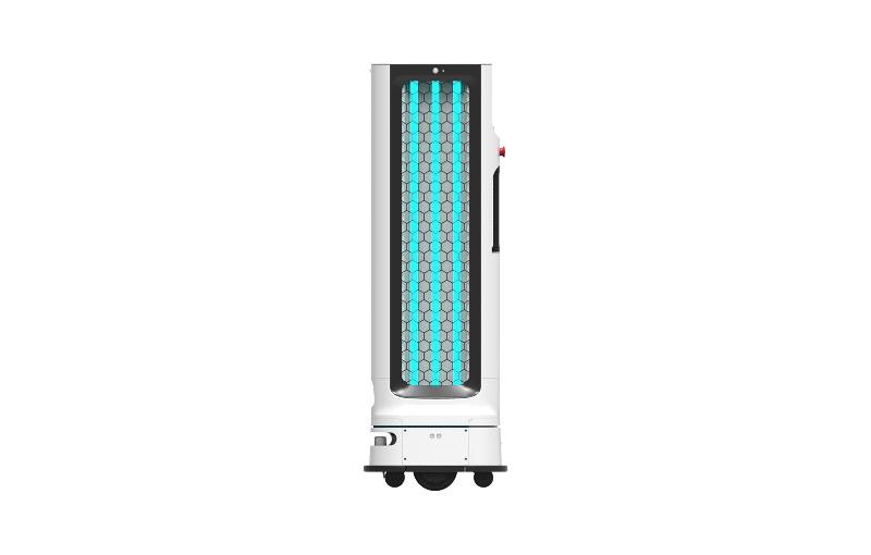 The new UV-C disinfecting robot. Image courtesy of LG.